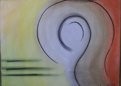 Abstract pastel on paper Nitwit by lia van elffenbrinck