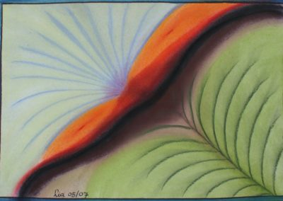 Abstract pastel on paper Vitality by lia van Eelffenbrinck