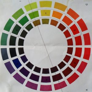 Colour wheel by Lia van Elffenbrink