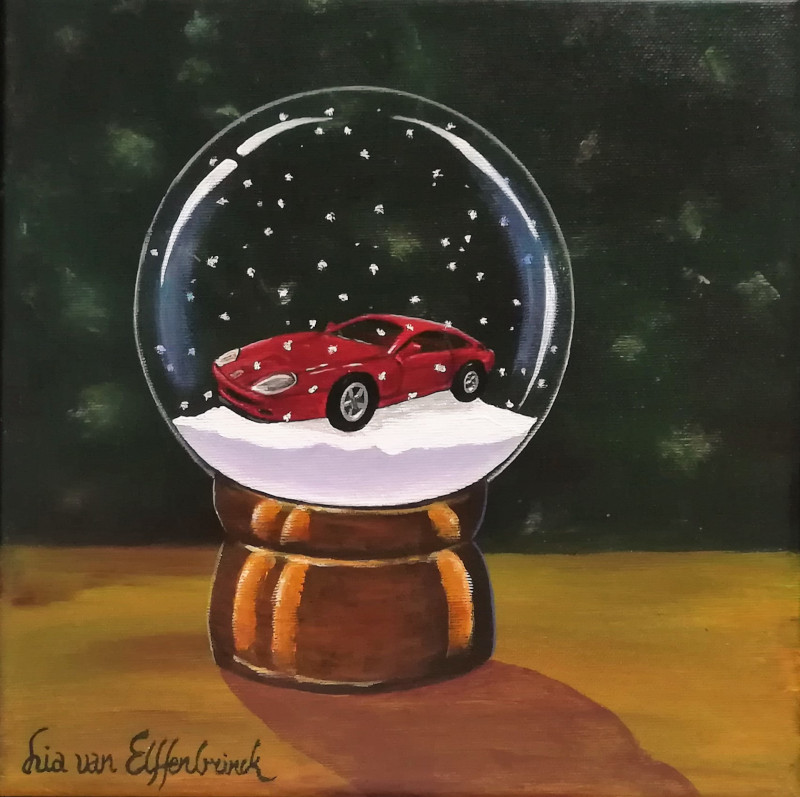 Broom. This is the painting of the favorite toy which I be painted in the snowglobe.