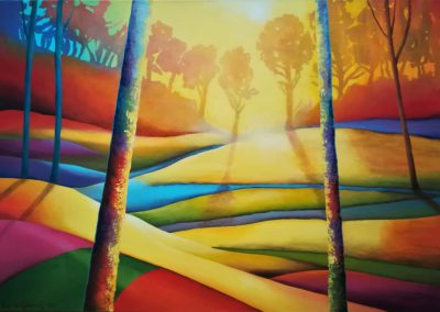A Dream within a Dream it is a colorful interplay of abstraction and nature.