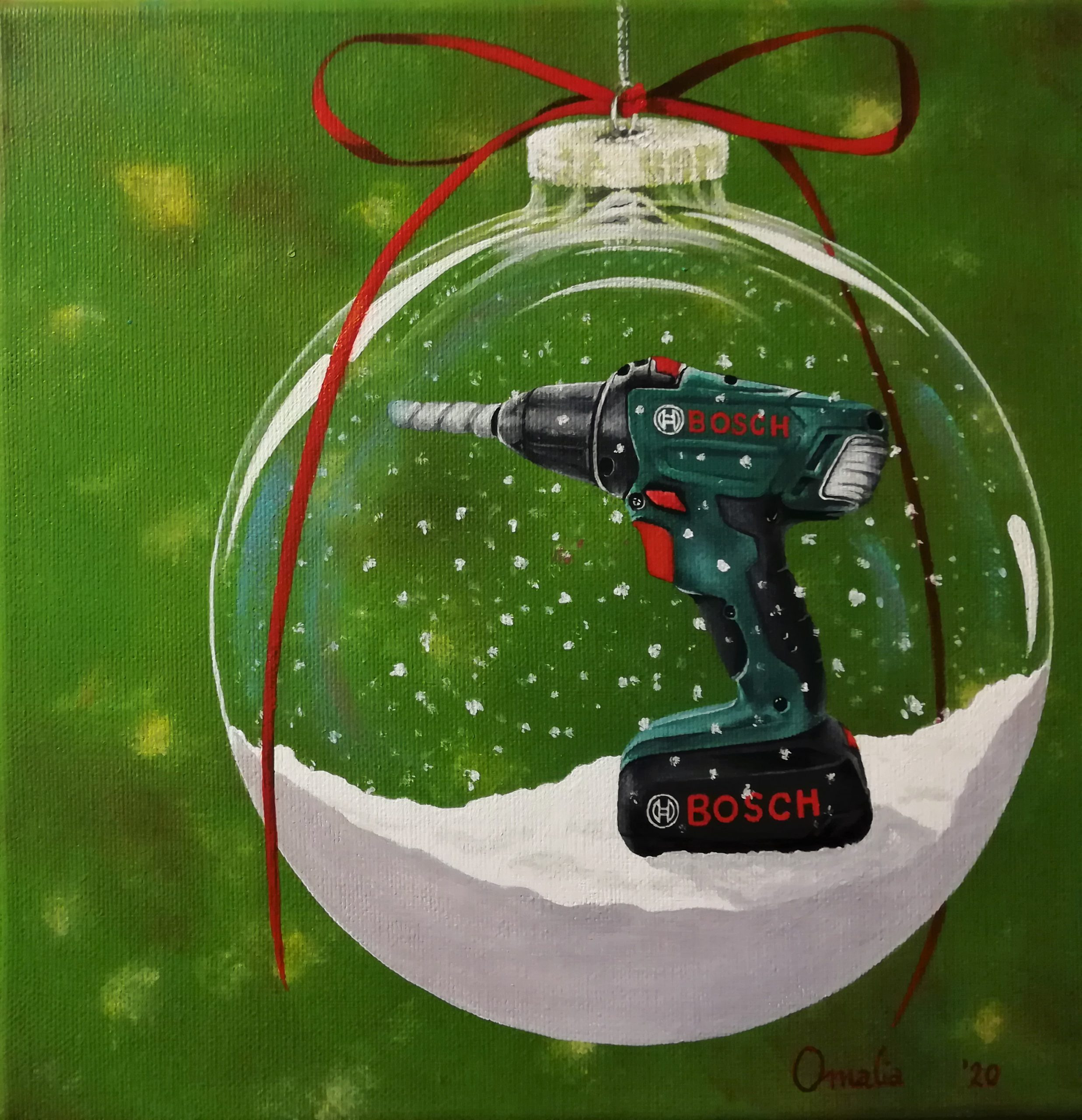 The Bosch Drill in the snowglobe